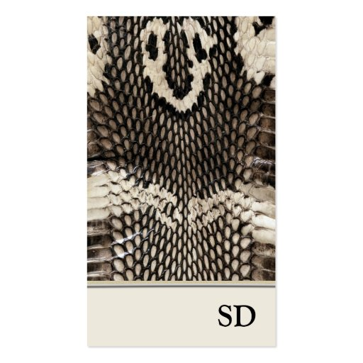 Elegant Unique Cobra Snake Skin Print Design Business Card Templates