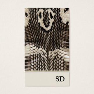 Elegant Unique Cobra Snake Skin Print Design Business Card