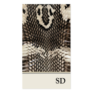 Elegant Unique Cobra Snake Skin Print Design Pack Of Standard Business Cards