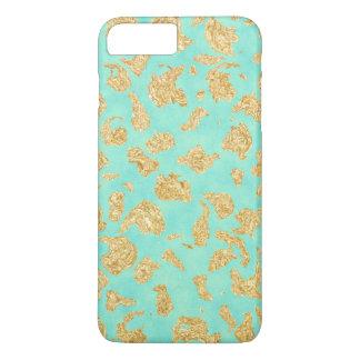 Elegant Unique Gold Mint Green Design iPhone 7 Plus Case