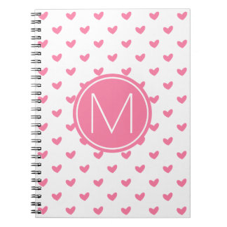 Elegant Valentine pink white tiny heart pattern Notebook