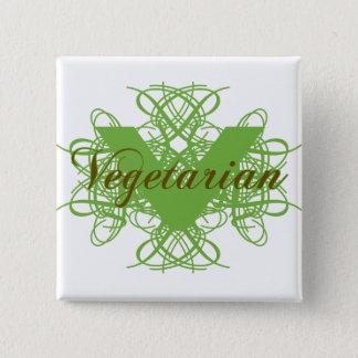 Elegant Vegetarian 15 Cm Square Badge