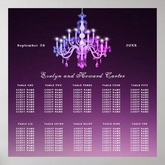 Elegant Venetian Chandelier | Wedding Seating Plan Poster
