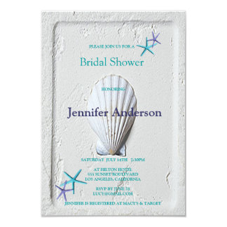 Elegant Venus Clam Beach Seashore Bridal Shower Card