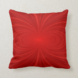 Elegant Vibrant Red Swirl Cushion