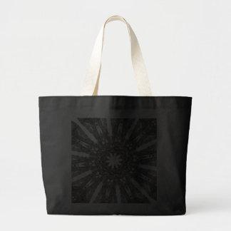 Elegant Victorian Black White Parasol Kaleidoscope Tote Bag