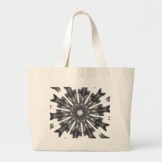 Elegant Victorian Black White Parasol Kaleidoscope Bags