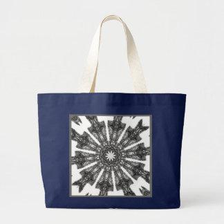 Elegant Victorian Parasol Kaleidoscope Navy Blue Bags