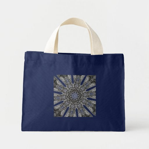 Elegant Victorian Parasol Kaleidoscope Small Navy Canvas Bag
