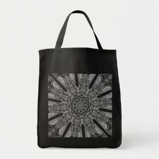 Elegant Victorian Parasol Reusable Black Tote Bag