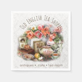 Elegant Victorian Vintage Antique Tea House Custom Disposable Napkins