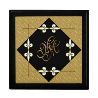 Elegant Victorian Vintage Art Deco Monogram Gift Box