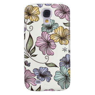 Elegant Victorian Vintage Flowers Galaxy S4 Cases