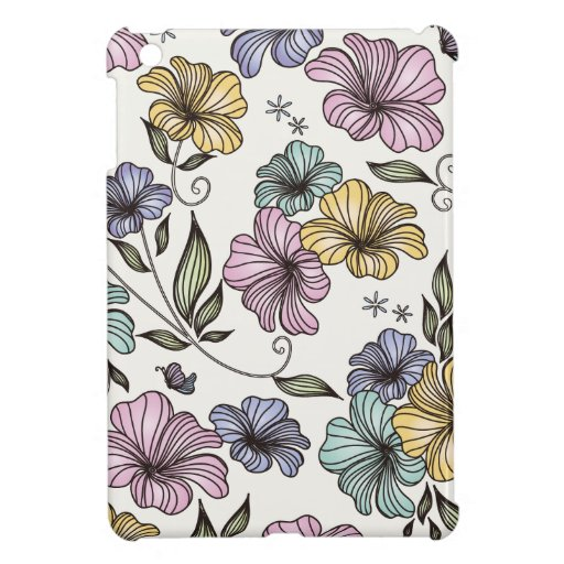 Elegant Victorian Vintage Flowers iPad Mini Covers