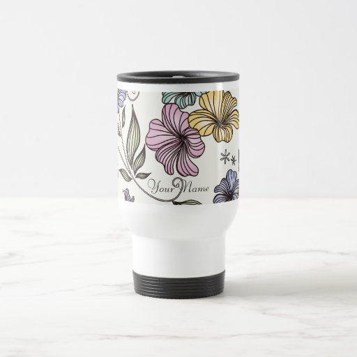 Elegant Victorian Vintage Flowers Mugs