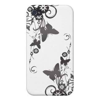 Elegant Vines and Butterflies iPhone 4 Covers