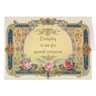 Elegant Vintage All Occasions Greeting Card