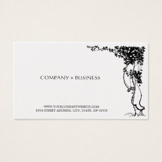 Elegant Vintage Art Beautiful Business Card Leaves