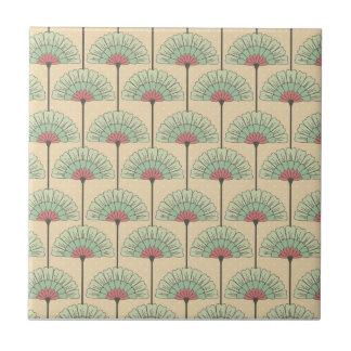Elegant VIntage Art Deco Floral Small Square Tile
