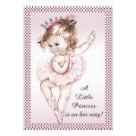 Elegant Vintage Ballerina Princess Baby Shower