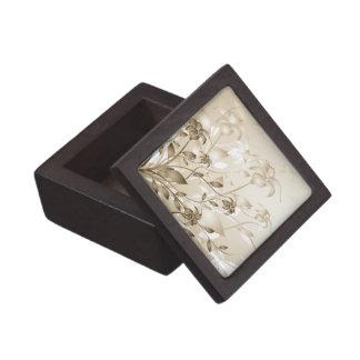 Elegant Vintage Beige Lilies Premium Gift Boxes