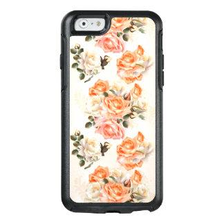 Elegant Vintage beige rose pattern OtterBox iPhone 6/6s Case