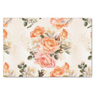 Elegant Vintage beige rose pattern Tissue Paper