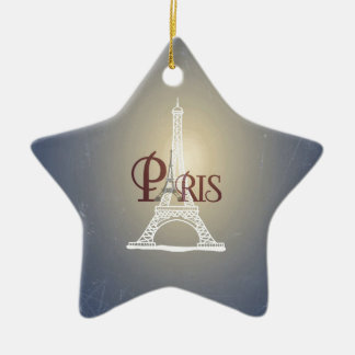 Elegant Vintage Blue Eiffel Tower Paris Design Ornaments