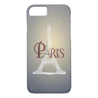 Elegant Vintage Blue Eiffel Tower Paris Design iPhone 7 Case