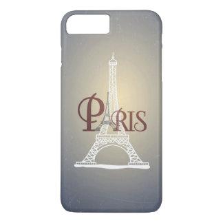 Elegant Vintage Blue Eiffel Tower Paris Design iPhone 7 Plus Case