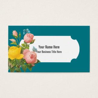 Elegant Vintage Botanical Florals Business Card