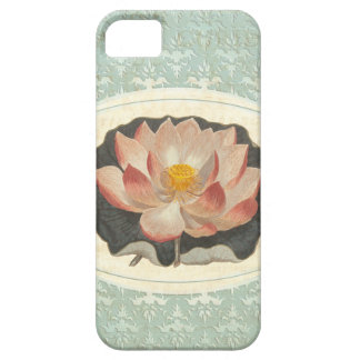 Elegant Vintage Botanical Print of Lotus Blossom Barely There iPhone 5 Case