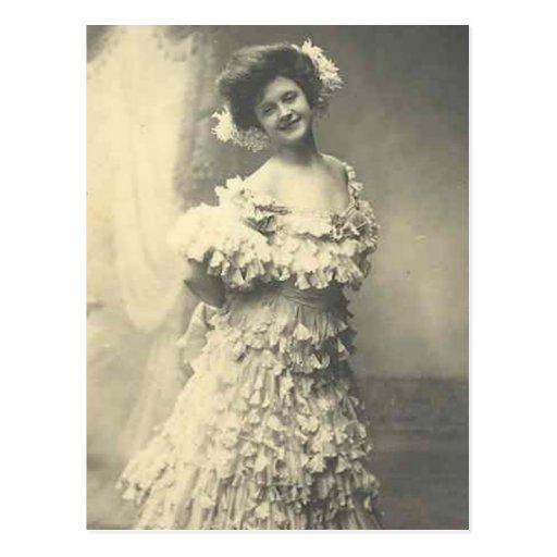 Elegant Vintage Bridal Photography Gifts Postcard