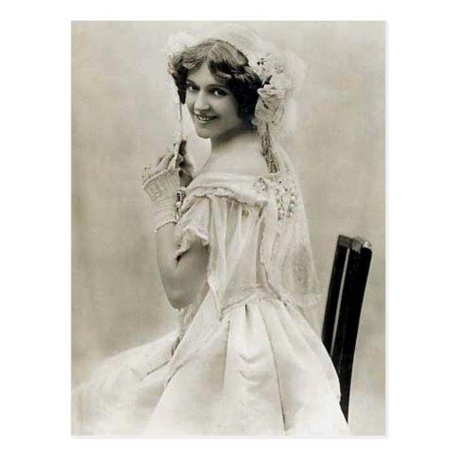 Elegant Vintage Bridal Photography Gifts Post Card