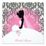 "Elegant Vintage Bridal Shower Invitation 5.25"" Square Invitation Card"