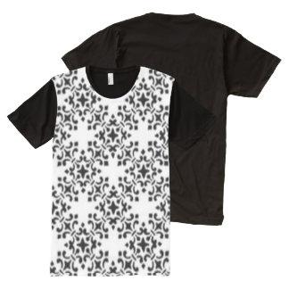 Elegant Vintage Brocade Damask All-Over Print T-Shirt