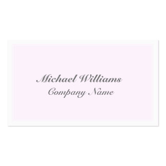 ELEGANT VINTAGE CLEARLY CLASSIC ROSE SIMPLE ROSA PACK OF STANDARD BUSINESS CARDS
