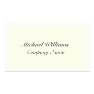 ELEGANT VINTAGE CLEARLY SIMPLE CLASSIC YELLOW PACK OF STANDARD BUSINESS CARDS