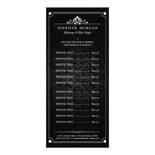 spa menu card