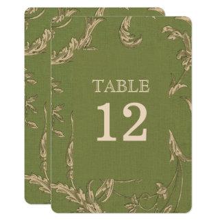 Elegant Vintage Design Wedding Table Number Cards