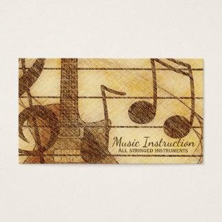 Elegant Vintage Flair Music Business Card