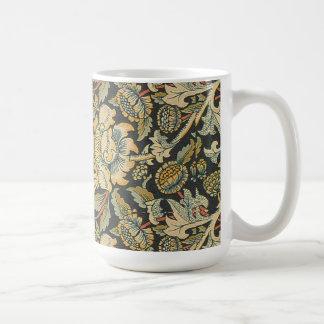 Elegant Vintage Floral Basic White Mug