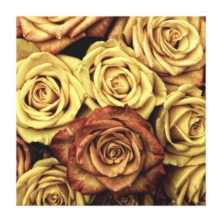 Elegant Vintage Floral Dried Roses Victorian Canvas Print