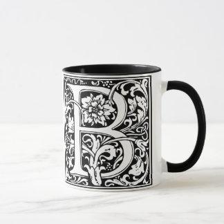Elegant Vintage Floral Letter B Monogram Mug