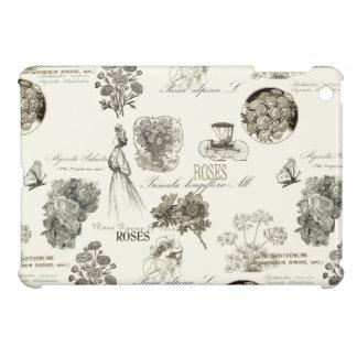 Elegant vintage floral pattern iPad case