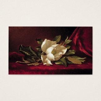 Elegant Vintage Floral Red White Rose Template Business Card