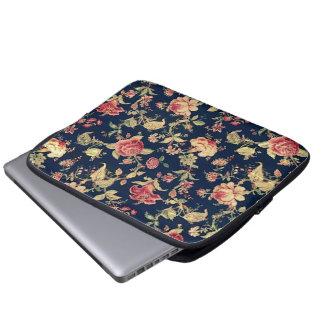 Elegant Vintage Floral Rose Electronics Case Laptop Computer Sleeve