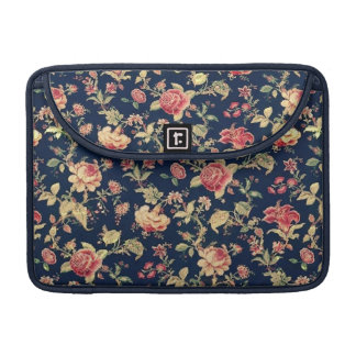 Elegant Vintage Floral Rose Pattern Sleeve For MacBook Pro