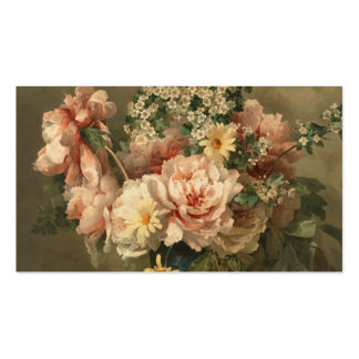Elegant Vintage Floral Rose Pattern Template Pack Of Standard Business Cards