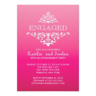 Elegant Vintage Flourish Engagement Party 13 Cm X 18 Cm Invitation Card